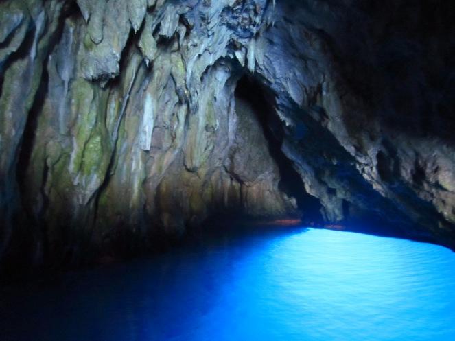 In a cave near Pisciotta