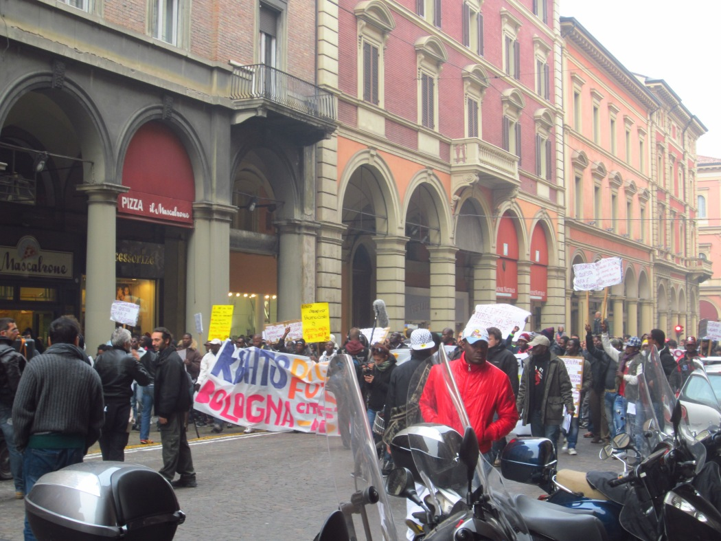 A bit of protesting going on in Bologna...